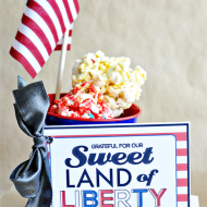 Red, White and Blue: Sweet Land of Liberty Printable