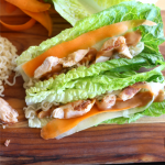 Thai Lettuce Wraps using only 6 ingredients- yum! The perfect summer healthy meal.