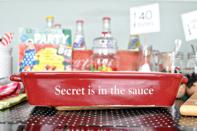 The secret is in the sauce- adorable casserole dish