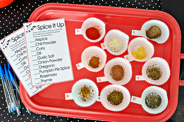 Spice it up - fun game to play at kitchen themed birthday party