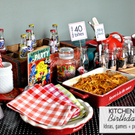 40 Bites! Kitchen Themed Birthday Party