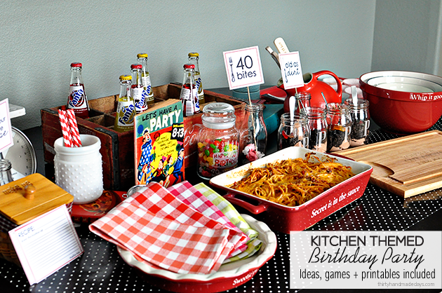 40 Bites Kitchen Themed Birthday Party
