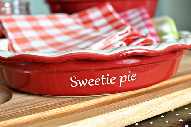 Sweetie Pie - pie plate