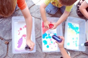 Baking Soda Painting