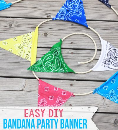 Adorable and easy DIY Party Banner from Landee for Funner in the Summer