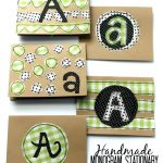 Handmade Monogram Stationary- Miss Lovie for ThirtyDaysBlog