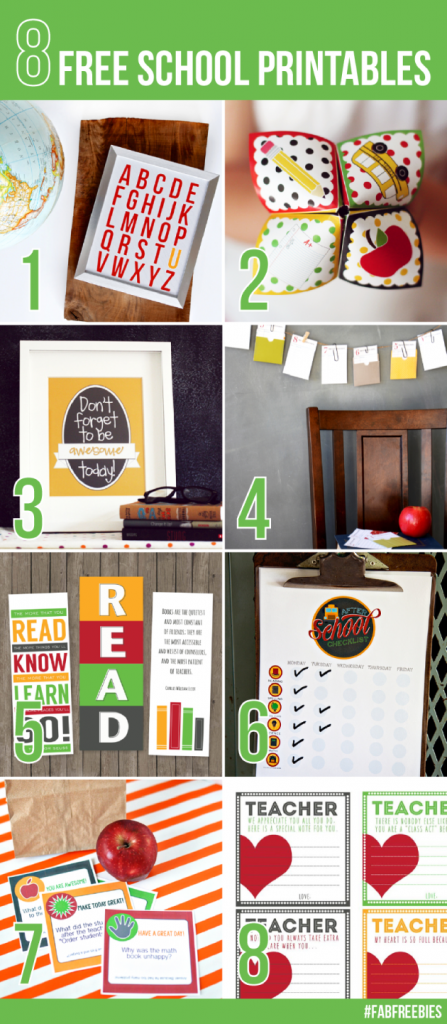Fabulous Back to School Printables - a little something for everyone!