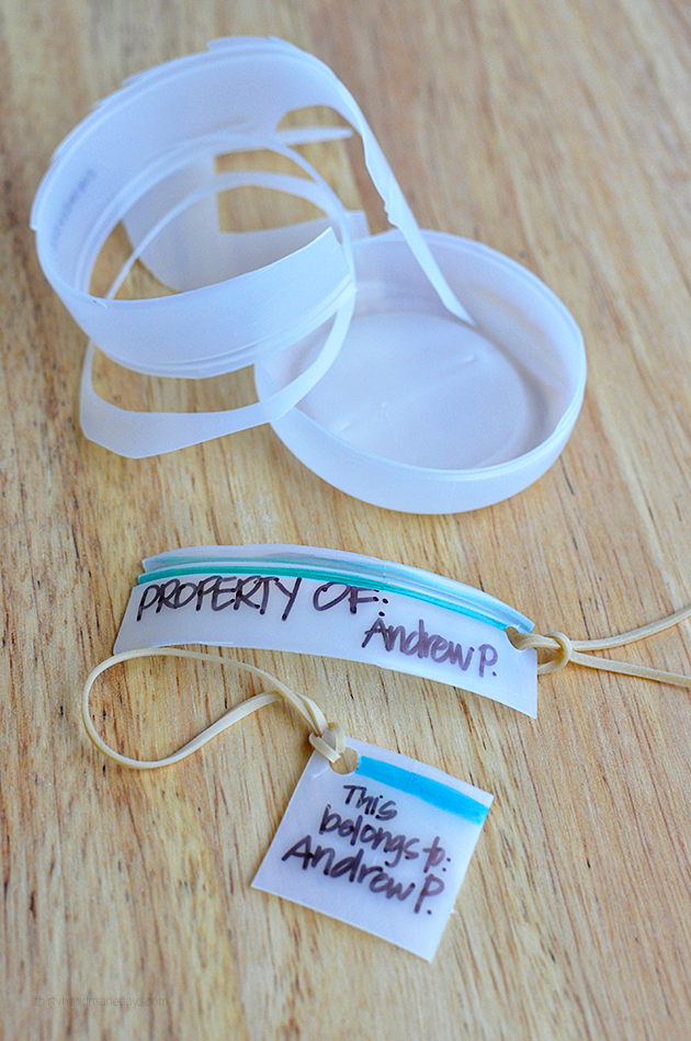 Recycled Bottle Backpack Tags from www.thirtyhandmadedays.com