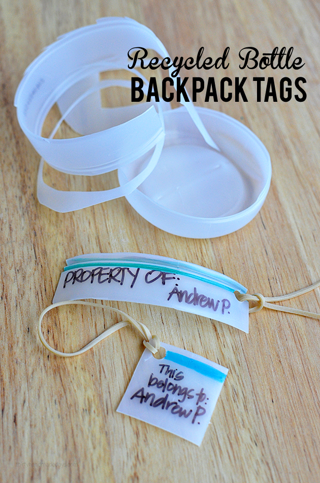 Recycled Bottle Backpack Tags | Thirty Handmade Days