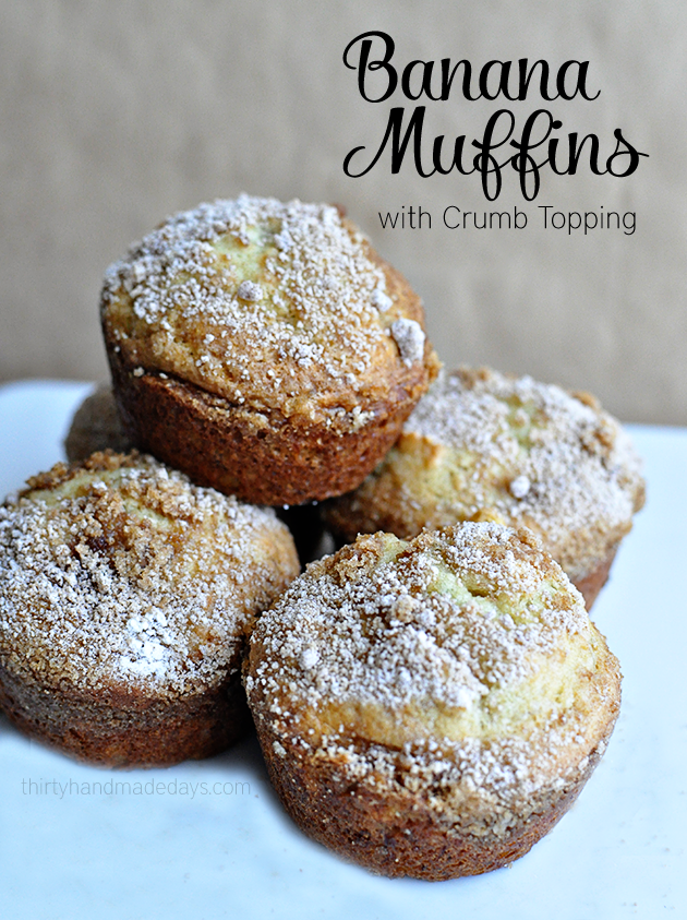 Banana Muffins with a crumb topping - easy to make but so good!
