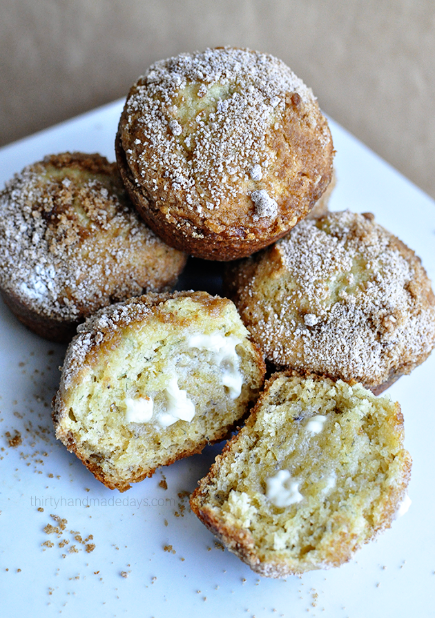 Banana Muffins with a crumb topping - easy to make but so good!  | Thirty Handmade Days