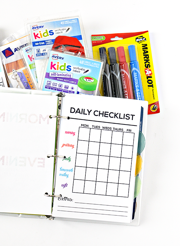 Printable Mini Accountability Binder - perfect for junior high, high school and college students!