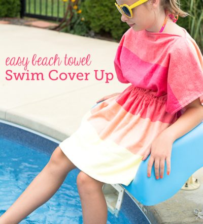 Easy beach towel swim cover up from the Polka Dot Chair
