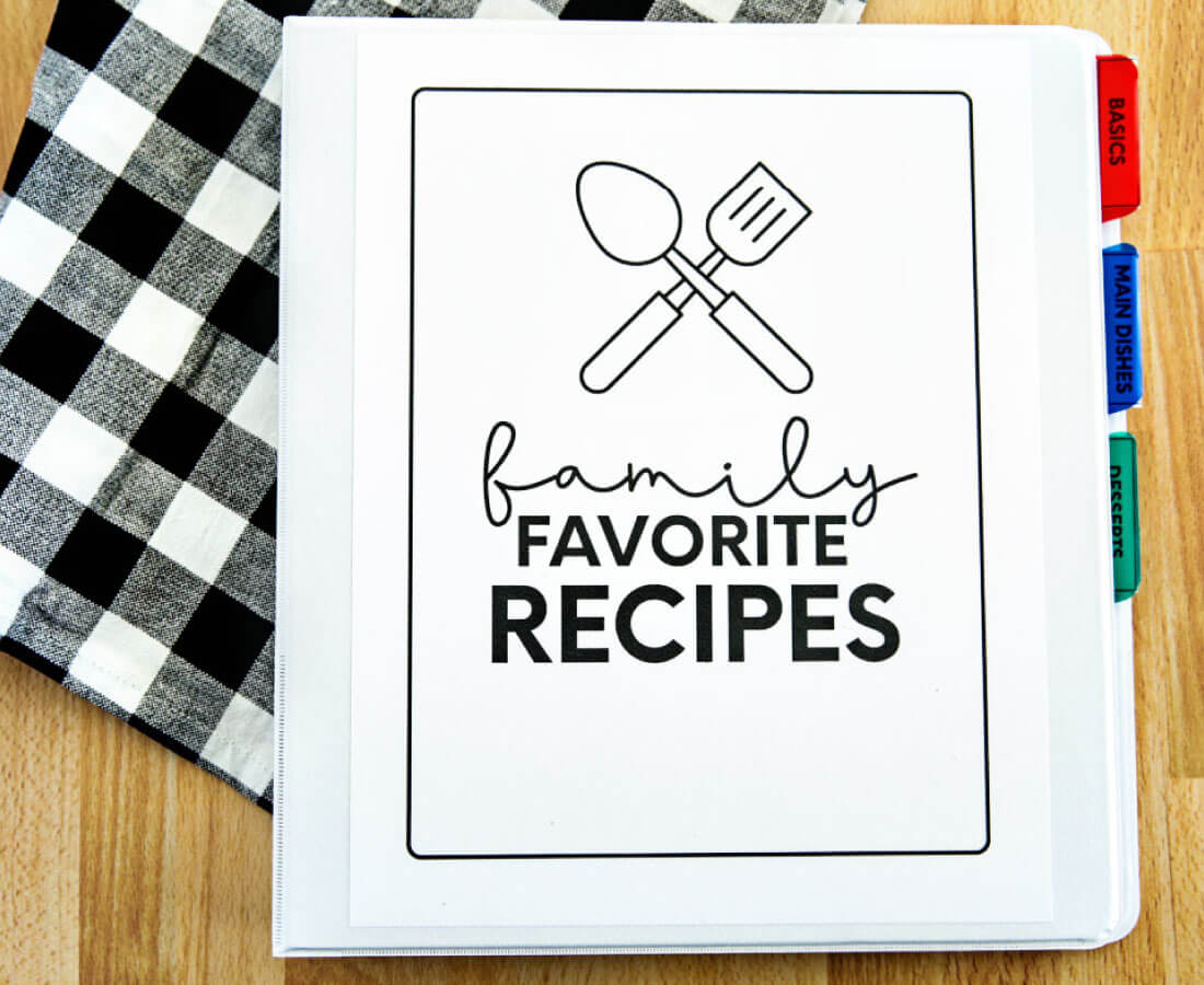 family favorites recipe book for kids   teenagers from
