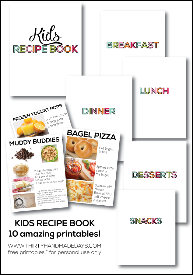 kids cookbook template - kids recipe book