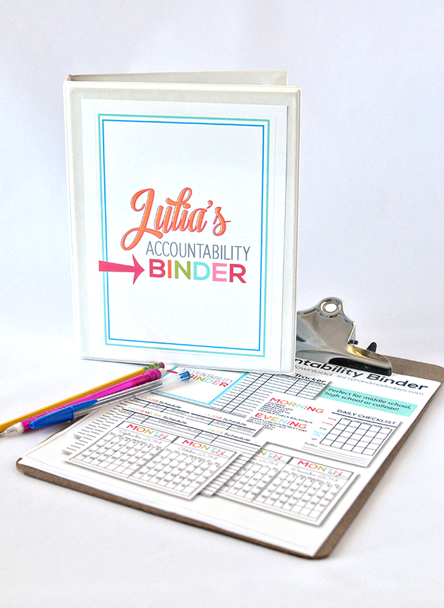 graphic relating to College Binder Organization Printables referred to as Mini Obligation Binder