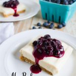 No Bake Cheesecake Bars with Fresh Blueberry Sauce