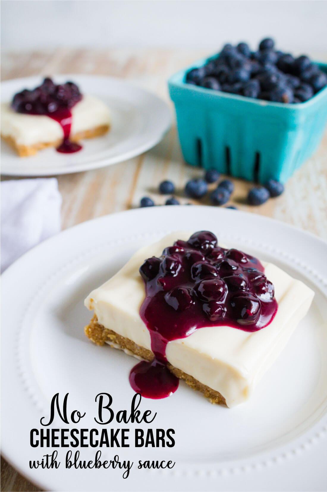 no bake cheesecake bars with graham cracker crust