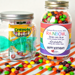 Cute gift idea- printable rainbow birthday tag