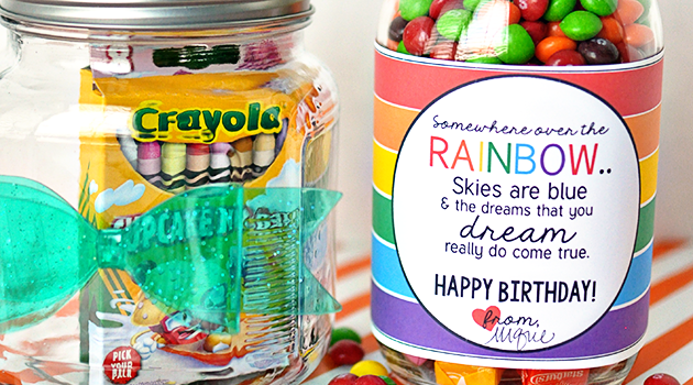 Rainbow Inspired Birthday Gift + Printable