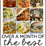 Over a Month's Worth of Slow Cooker Meals