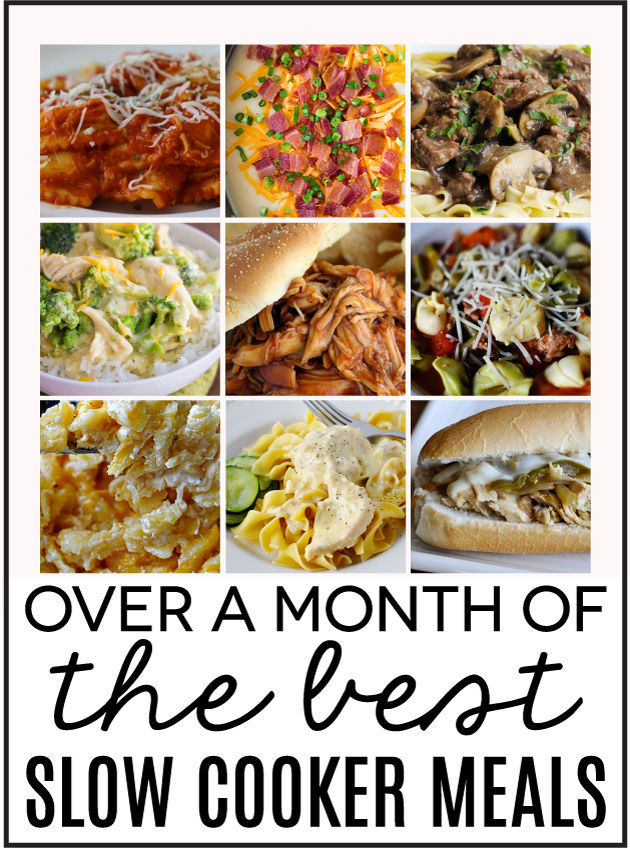Over a month's worth of the best Slow Cooker Meals . Family Fresh Meals! www.thirtyhandmadedays.com