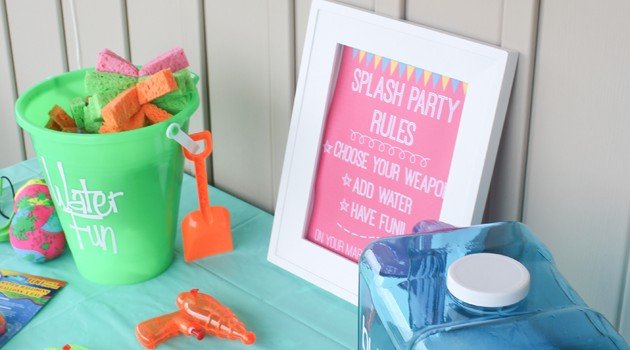 Fun & Inexpensive Summer Splash Party