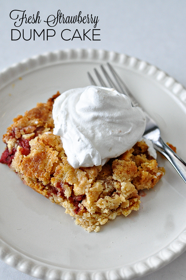 Strawberry Dump Cake -super easy cake recipe. The perfect starter ...