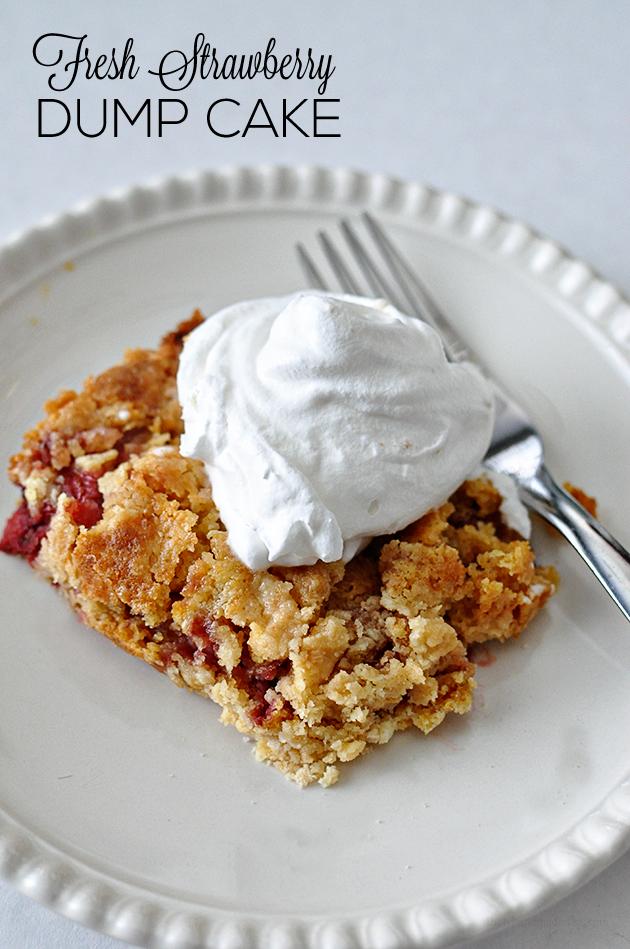 easy strawberry dump cake recipe