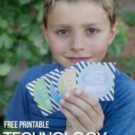 Printable Kids Technology Tokens