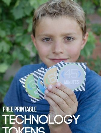 Printable Kids Technology Tokens - super awesome idea from Over the Big Moon