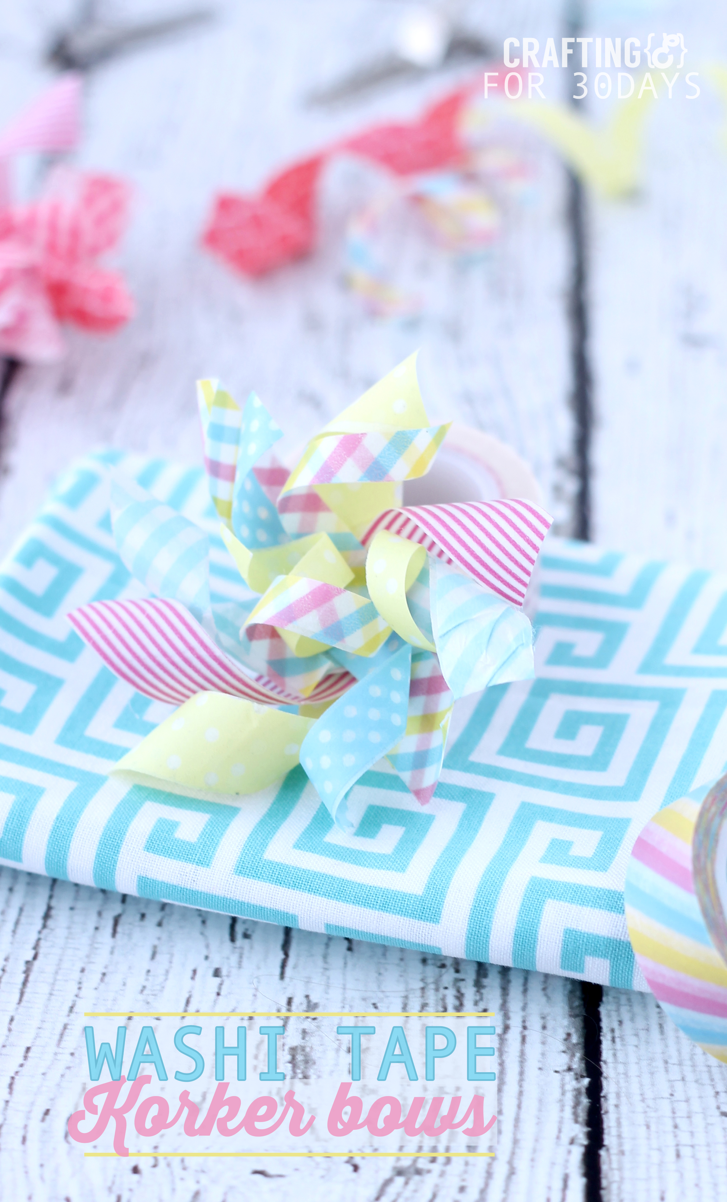 How to make washi tape korker bows!