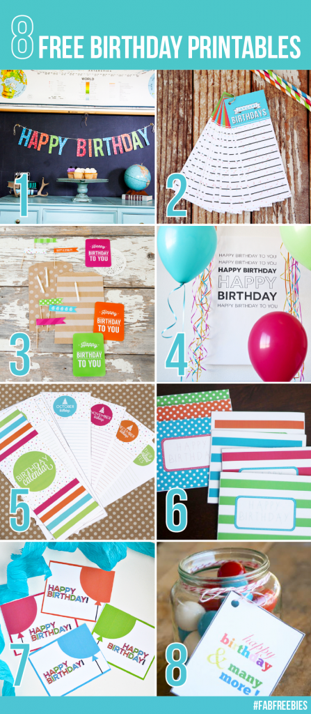 Free Printables for Birthdays Thirty Handmade Days