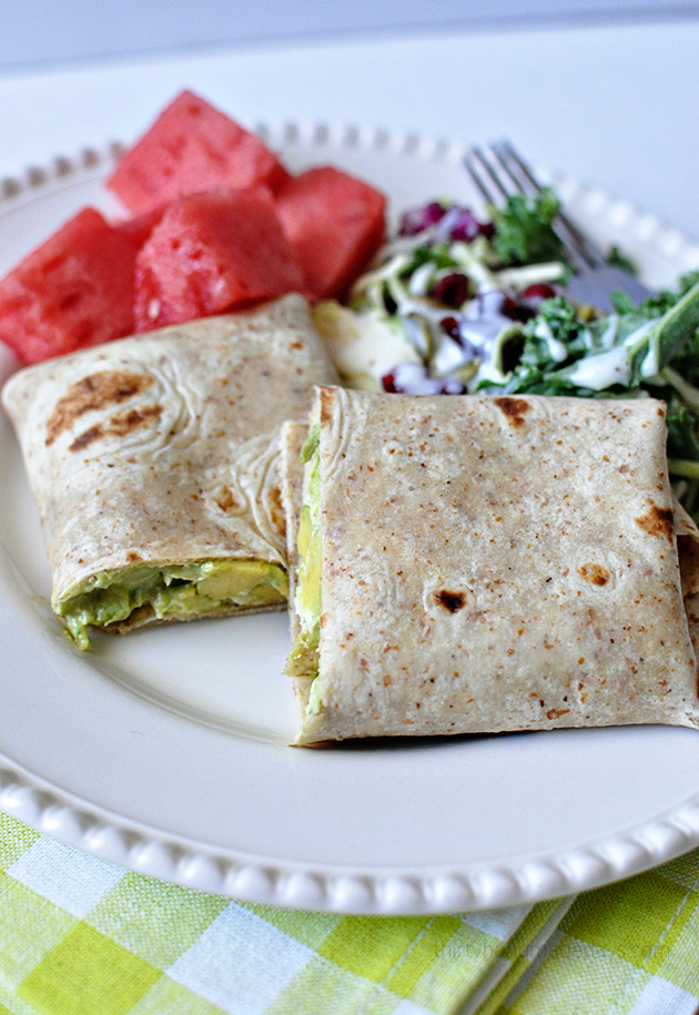 Healthy and delicious Avocado Chicken Wrap - simple to make and so good! A healthy alternative for lunch or dinner.  www.thirtyhandmadedays.com