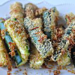 4 Ingredient Baked Zucchini Sticks + Dipping Sauces