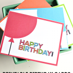 Simple printable birthday cards/tags from thirtyhandmadedays.com