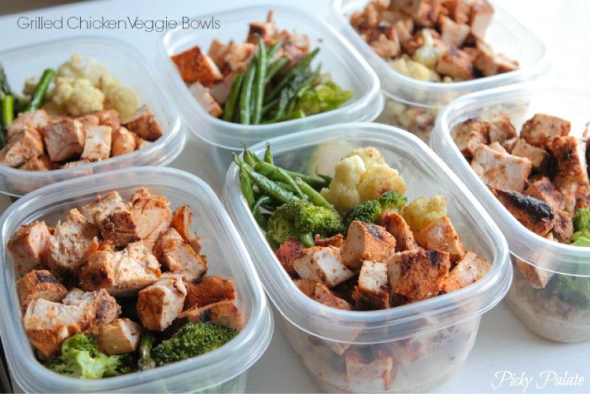 Bols à légumes grillés pour plus de 100 idées de préparation de repas