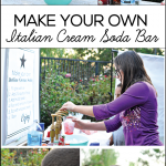 DIY Outdoor Movie Night & Italian Cream Soda Bar