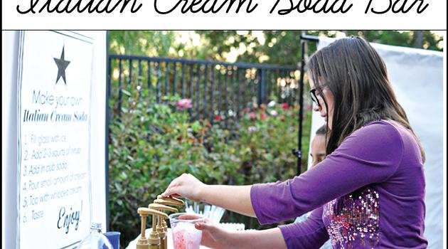 DIY Outdoor Movie Night & Italian Cream Soda Bar