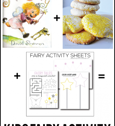 Fun kids fairy activity - read a book, make cookies, fill out printables. Thirty Handmade Days