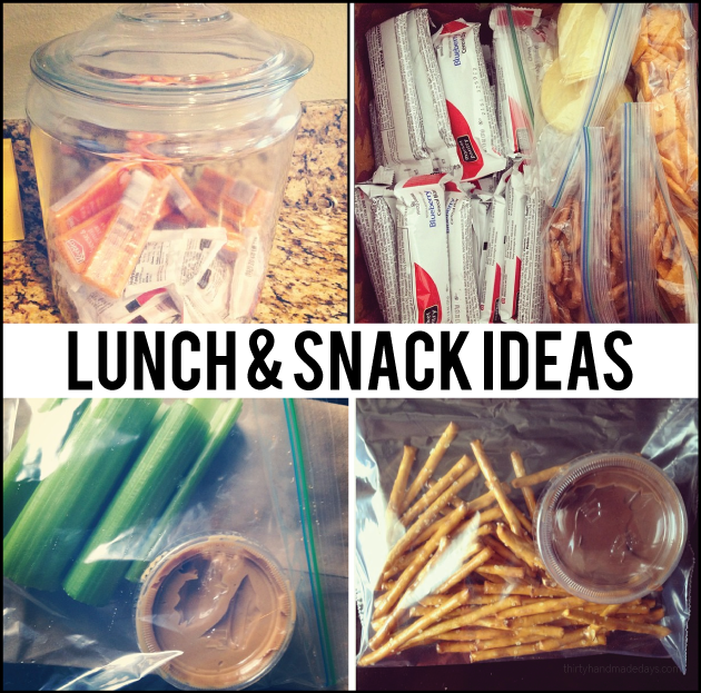 Kid approved lunch box and snack ideas | Thirty Handmade Days