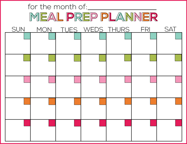 Printable Meal Prep Planner from Thirty Handmade Days