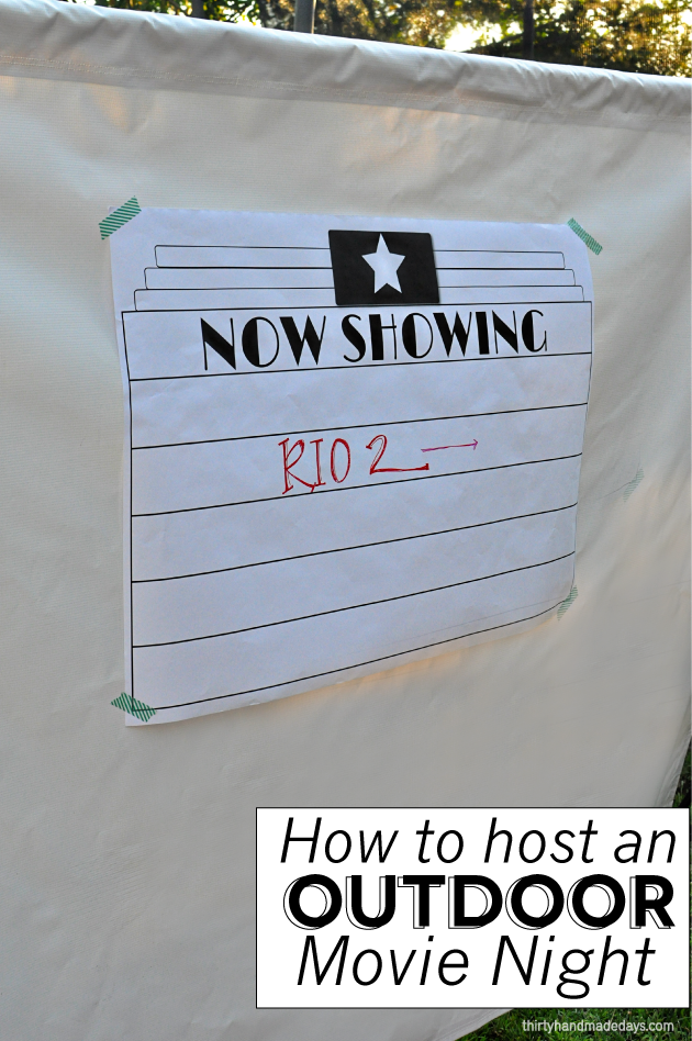 How to host an outdoor movie night from Thirty Handmade Days