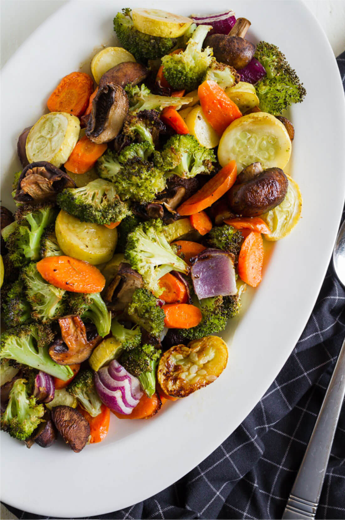Easy Roasted Vegetables - use this way to make a healthy side dish with every meal.
