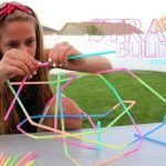 Fun Kids Crafts- straw building from A Girl and a Glue Glun