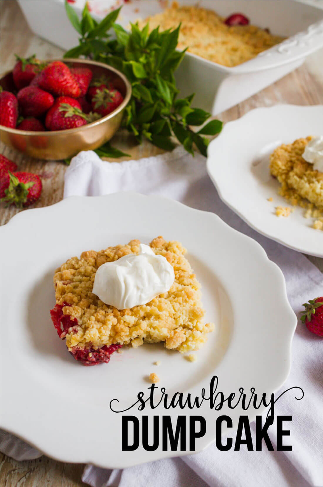 Strawberry Dump Cake - the easiest dessert recipe you'll ever make! www.thirtyhandmadedays.com