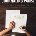 Fabulous printable summer journaling pages from Simple As That