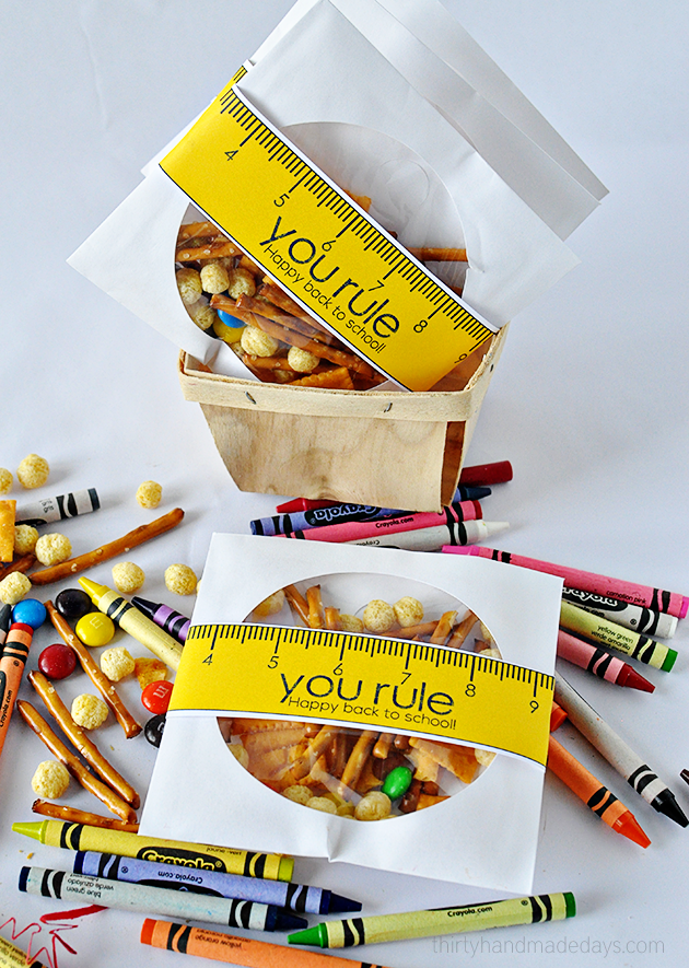 You rule! Happy Back to school printable www.thirtyhandmadedays.com