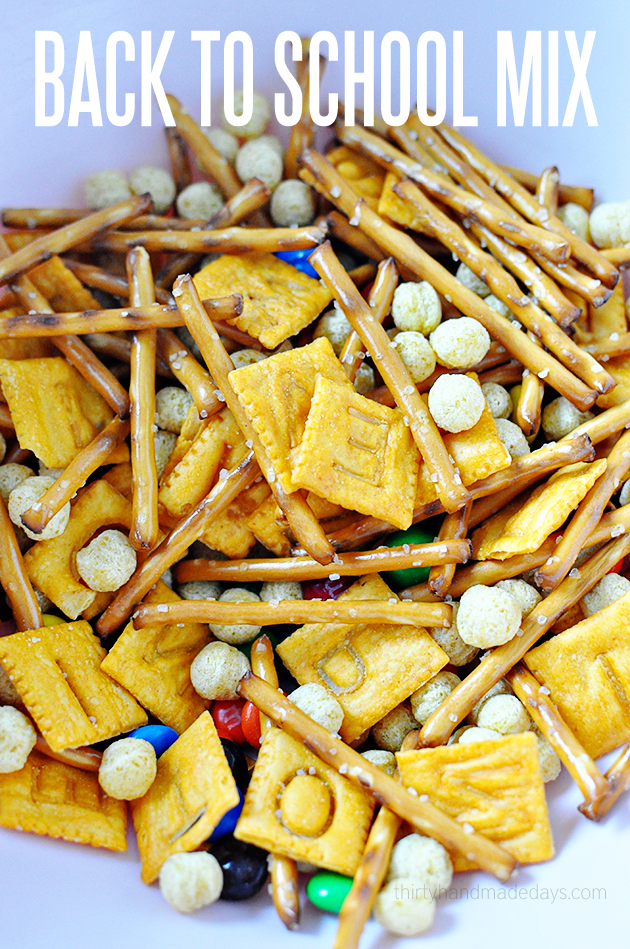 Back to School Mix - cute and delicious snack that's perfect for back to school