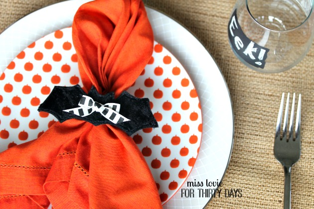 14 Halloween Craft Bat Napkin Rings